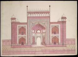 Entrance gateway to the Taj Mahal, Agra 1762